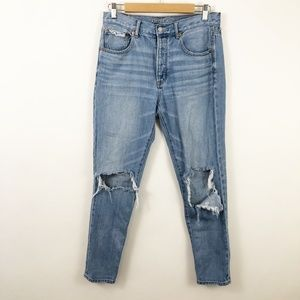 AE High Rise Girlfriend Jeans Button Fly size 6